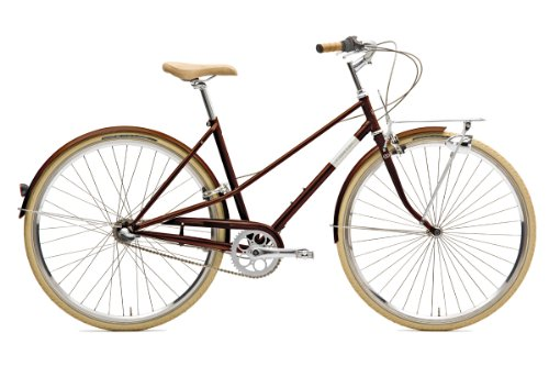 Creme Damen Citybike Caferacer Lady Solo - 3 Speed, Brown, Rahmenhöhe: 49 cm, Reifengröße: 28 Zoll (71 cm), BI-CRE-3204_49_22