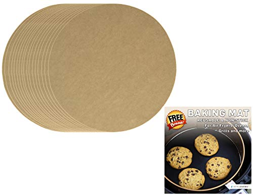 Air Fryer Parchment Paper Accessories Set Compatible with Chefman, Cusinaid, Della, Emerald, Farberware, Avalon Bay, Costzon, Cozyna, Chulux, Flexzion +More