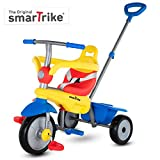 smarTrike Breeze Toddler Tricycle for 1,2,3 Year Olds - 3 in 1 Multi-Stage Trike, Yellow/Red/Blue
