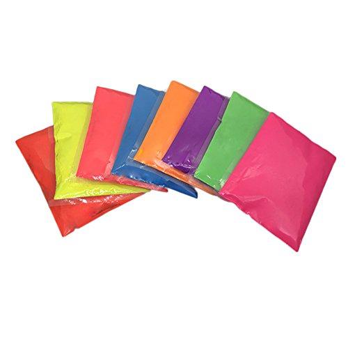 Polvere fluorescente Neon Nights Neon colore per vestiti e stoffe   colori per Glow Effetto fluorescente luce nel nero