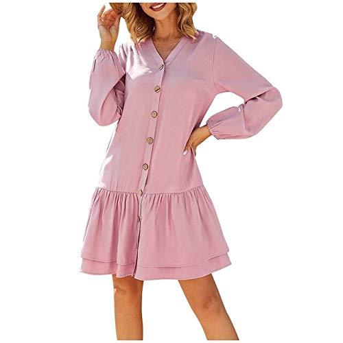 QUNLIANYI avondjurk tule lang vrouwen jurk knoop effen ruches V-hals mouwloze avondjurk pastoral stijl chic jurk