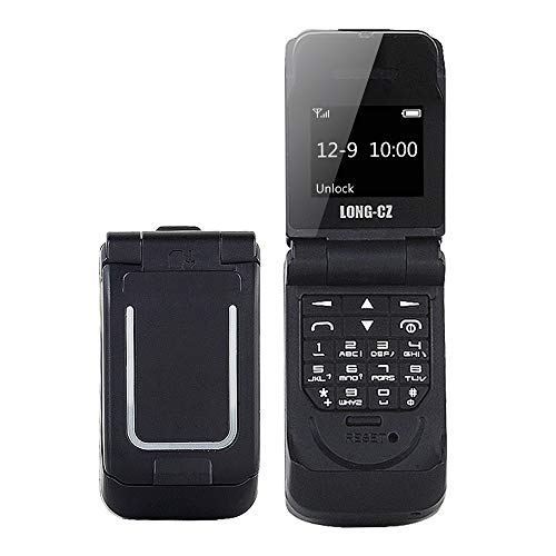 LONG-CZ J9 Latest Mini Flip Bluetooth Dialer with Voice Changer Mobile Cell Phone (Black)