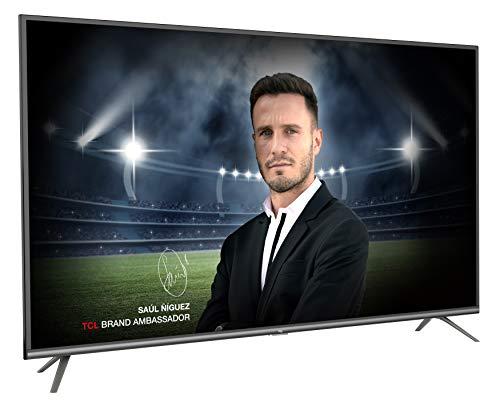 TCL 55EP641 - Televisor de 55 Pulgadas (Smart TV con resolución 4K HDR, Android TV, Micro Dimming Pro, Alexa, Google Assistant), Color Negro