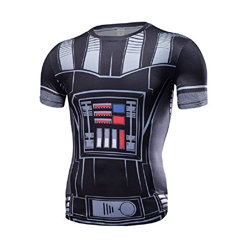 Cosfunmax Thanos Shirt Super Hero Compression Sports Shirt Men's Fitness Tee Gym Tank Top XXL (Type 23, X-Small)