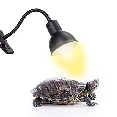 Lámpara de calor de tortuga, foco ajustable de 360 ° para reptiles de acuario, lámpara de calor de 25W / 50W / 75W para tortuga/reptiles/lagartos/acuario/camaleón/serpientes