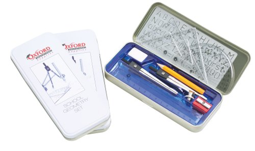 10Pcs Maths Tin Pencil Case Geometry Compass Statinery Set Ideal For School