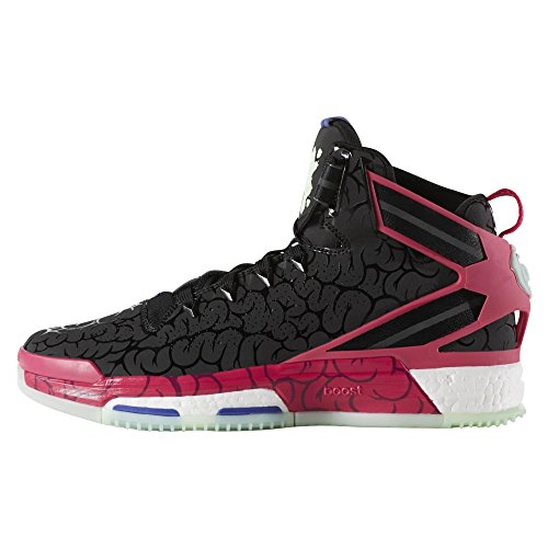 adidas D Rose 6 Boost CORE Black/Bold PINK/Frozen Green F15
