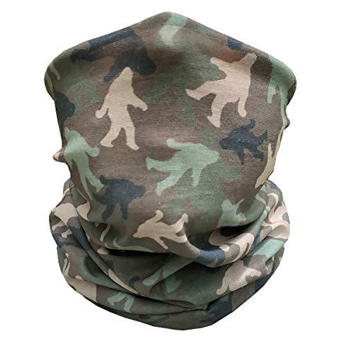 Colter Co. Sasquatch Camo Gaiter | Woodland Sasquatch | Sport Grade BiFlex Microfiber, Made in USA | Versatile Headwear | Neck Gaiter, Head wrap, Face Mask for Camping, Running, Hiking