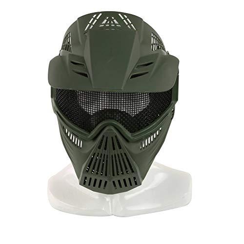 Lejie Taktische Stahlmaske Airsoft-Maske, Maske für das ganze Gesicht, Mesh-Maske, Schutzmaske, Militärschutzmaske, ideal für Paintball CS