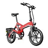 LOMJK Bicicleta eléctrica Plegable Adulta, Bicicleta eléctrica Plegable de la Ciudad de la Ciudad, Bicicleta eléctrica de Velocidad Variable con Pantalla LCD, batería de Litio Recargable 400W / 48V