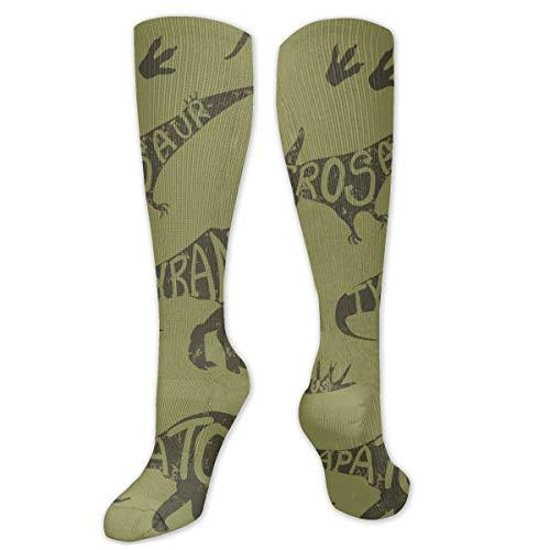Non applicable Original Camouflage Dinosaures Unisexe Mode Respirant Chaussettes de Sport Évacuation de l'humidité Longue Moyenne Épaisseur Chaussettes