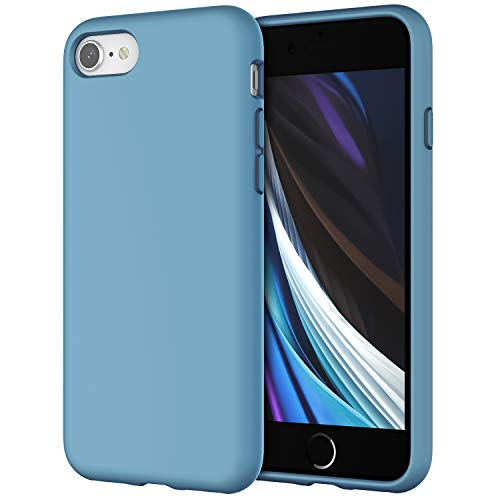JETech Silicone Case Compatible with iPhone SE 2020 2nd Generation, iPhone 8 and iPhone 7, 4.7-Inch, Silky-Soft Touch Full-Body Protective Case, Shockproof Cover with Microfiber Lining (Cornflower)