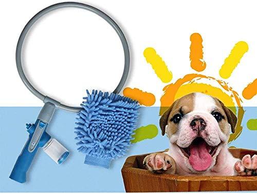 GMYQ Ducha para mascotas de 360 grados, accesorio para ducha de mascotas, rociador de ducha para mascotas, ducha para mascotas, ducha y mascotas, herramienta útil plegable de 360 grados
