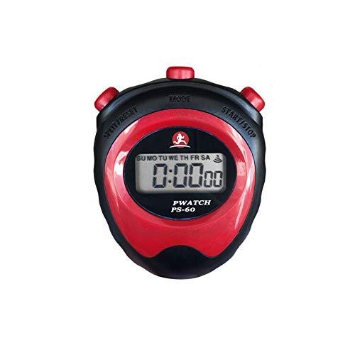 Yougou01 Cronómetros, Temporizador de cronómetro de Pantalla de una Fila for un Jugador, cronómetro multifunción de Pantalla Grande de Alta definición (Rojo/Negro), Ahorro energético Ahorro de ener