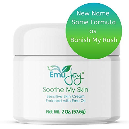 Soothe My Skin Cream for Sensitive Skin - Eczema Cream Psoriasis Atopic Dermatitis Lichen Sclerosus. Emu Oil Cream with Only Natural Ingredients