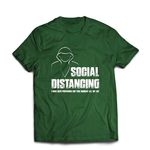lepni.me Camisetas Hombre Distanciamiento Social Cuarentena y Descanso Regalo Introvertido