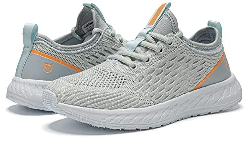 LARNMERN PLUS Donna Sneakers Running Traspirante Casual Scarpe Bronzo 40
