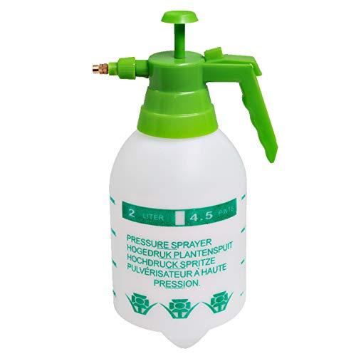 ALLPER Botella pulverizadora, Bomba de presión/vaporización, 2 litros Modelo Blanco con Mango...