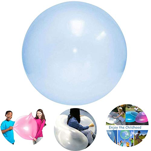 LXING Opblaasbare Bubble Ball, Kinderen Outdoor Soft Air Water Gevulde Bubble Ball Blow Up Balloon Toy Fun Party Game Zomer Voor Kinderen Gift L (120cm) / Blauw