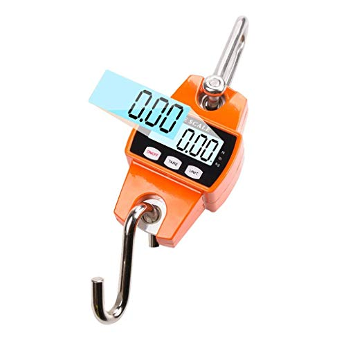 300kg/50g Digital Crane Scale LCD Travel Suitcase Mini Electronic Hanging Hook Scale Tare Function Aluminium Alloy Case Waterproof Electronic