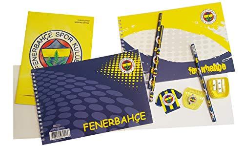 Hakan Canta Fenerbahce Istanbul - Schule Set Heft Bleistft Radiergummi Anspitzer FB3