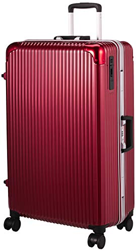 [ヒロディービーシー] フレームエッジ、スーツケース フレームエッジ 保証付 90L 5.7kg レッド