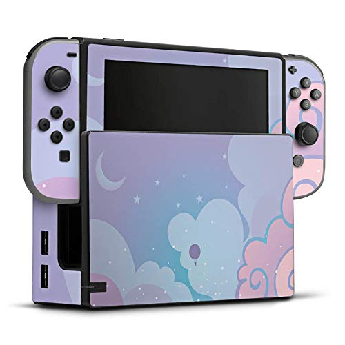 DeinDesign Skin Aufkleber Sticker Folie für Nintendo Switch Wolken Himmel Sterne