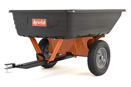 650-Pound, 10 Cu. Ft Poly Cart, Black/Orange - Agri-Fab 45-0533