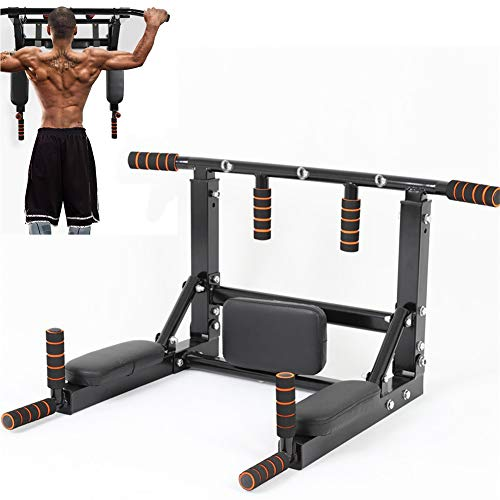 Sinbide Fitness Barra de Dominadas Aprobada por Gimnasios Barra de dominadas para Pared Wall Pull Up Bar Barra de Tracción Entrenamiento y Resistencia Training Multifuncional Workout Bar