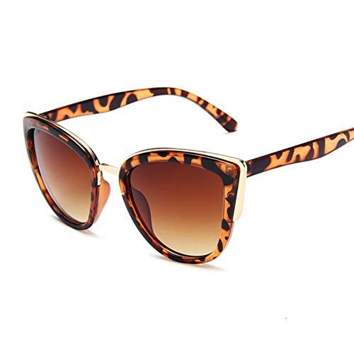 AleXanDer1 Gafas de Sol Gafas de Sol Señoras Moda Gafas de Sol Femenina Leopardo Imprimir Gato Ojo Negro Gradiente (Lenses Color : Leopard)