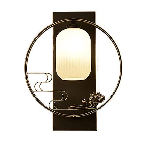 WYL Moderno nuevo chino creativo a mano alzada E27 lámpara de pared dormitorio cabecera estudio pasillo iluminación