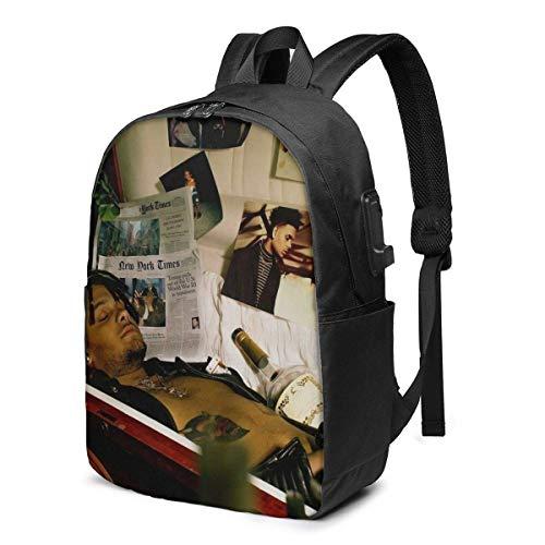 IUBBKI Bolsa para computadora mochila USB Smokepurpp Deadstar Business Travel Laptops Backpack,Unisex College Commuter Usb Backpack