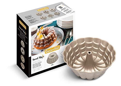 Guardini Sweet Magic, Stampo Belle 24,5cm, per realizzare torte creative, Alluminio Pressofuso, Colore silver/champagne