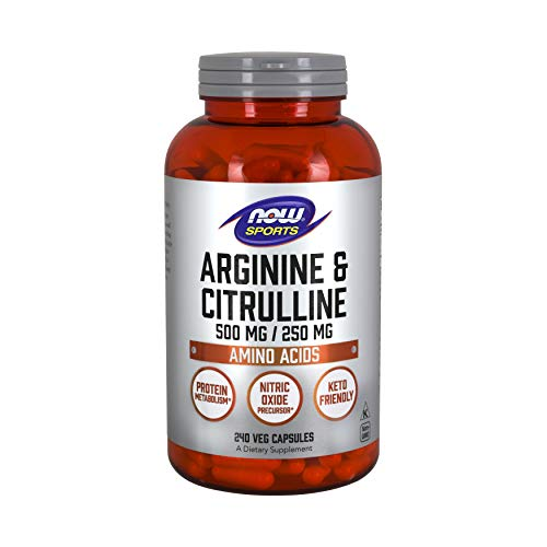 NOW Sports Nutrition, Arginine & Citrulline 500 mg/ 250 mg, Amino...