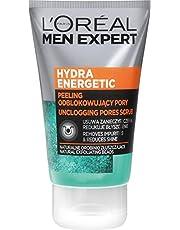 L'Oréal Paris Men Expert Hydra Energetic Peeling do twarzy odblokowujący pory, usuwa zanieczyszczenia, redukuje błyszczenie, 100 ml