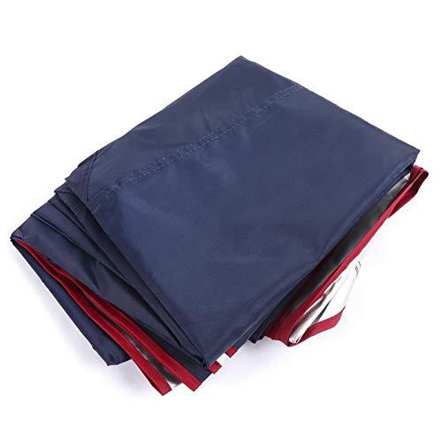 Auto Zelt Regenschirm, Tragbare Gefaltete Auto Regenschirm Oxford Tuch Outdoor Anti-UV Sonnenschutz Sonnenschutz Schutzhülle, Universal Auto Zelt Bewegliche Carport Gefaltete Tragbare(Navy blue )