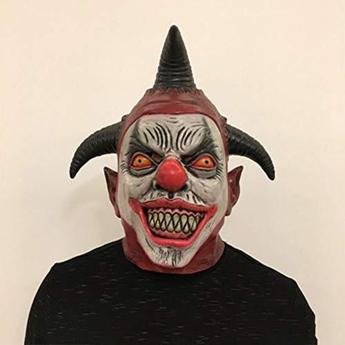 SHR-GCHAO Maquillaje de Halloween Máscara Horror Sombrero del Payaso del Horror Diablo...