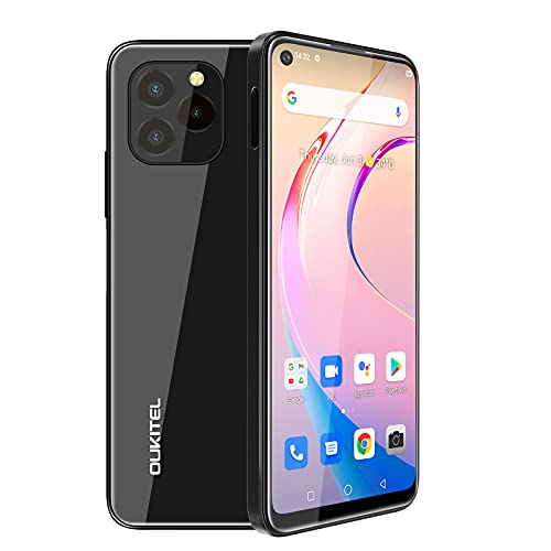 Moviles Libres Baratos,OUKITEL C21 PRO , 6,39HD + batería de 4000 mAh, 4GB RAM+64GB ROM(SD256GB) , Dual SIMTeléfono Móvil Barato, Android 11 4G , Telefono Octa Core, Face/huella dactilar ID (negro)