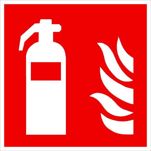 Feuerlöscher Schild selbstklebend! Kunststoff, Rettungskennzeichnung sehr stabil, 150x150mm. Einfach andrücken - Fertig!!!Sehr stabil!! Vollflächig selbstklebend