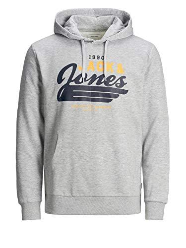 JACK & JONES Jjelogo Sweat Hood 2 Col Noos 20/21 PS Sweatshirt Capuche, Gris Clair chiné, 4XL/6XL Homme