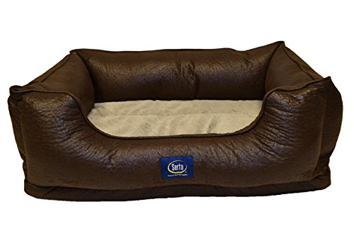Serta Ortho Cuddler Pet Bed, Faux Leather