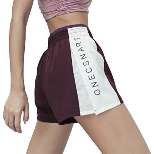 Pantalones Cortos Deportivos Transpirables de Secado rápido para Mujer, Pantalones Cortos Deportivos Falsos con Costura de Dos Piezas para Gimnasio, Entrenamiento de Yoga Medium