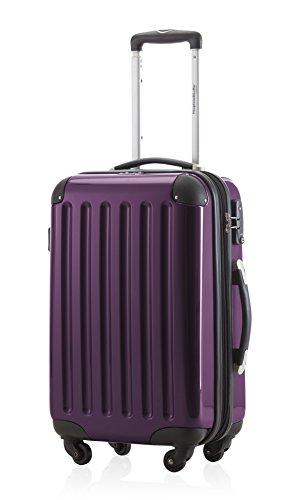 Hauptstadtkoffer® Handgepäck Aubergine Hochglanz hartschale Reisetrolley Bordgepäck Koffer