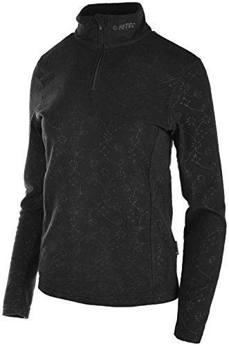 Hi-Tec Half Zip Active Wear Elza PB Pull en Polaire, Noir, L Femme