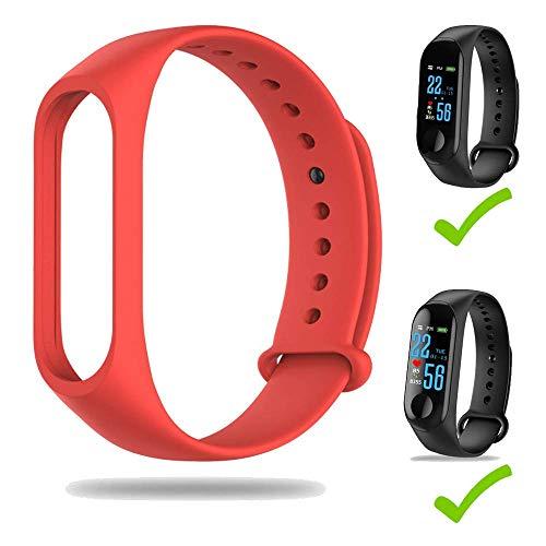 YAMMY Correa para M3 Pulsera Band Original Compatible para LEFUN Health App Smart Watch ReplacementSilicone Wristband