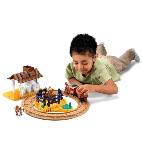 Mattel - L3136 - Véhicule - Geotrax - Mini Circuits Geotrax - Circuit Gare Ranch