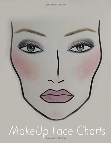 MakeUp Face Charts Notebook: Face charts for makeup artists blank paper sheets notebook, your professional makeup artist book portfolio, face mapping chart, face chart makeup book.