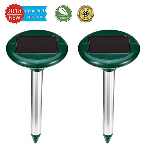 ZEBRAFI Ahuyentador Solar de Topos, Ahuyentador ultrasonidos Solar para Topos,Vole, Squirrel, para Patio de Granja en un jardín al Aire Libre (Verde Claro)