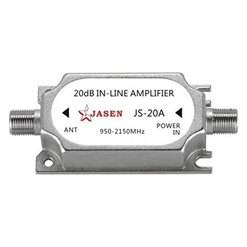 SaferCCTV Satellite 20Db Gain Inline Amplifier 950-2150MHZ Satellite Signal Booster Replacement for Dish Network Antenna AMP Directv FTA RG6 Cables