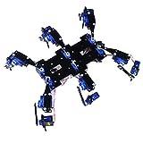 Almencla Hexapod / 6 Beiniger Roboter Schwarzer Spinnenroboter Kompletter Satz An Halterungszubehör